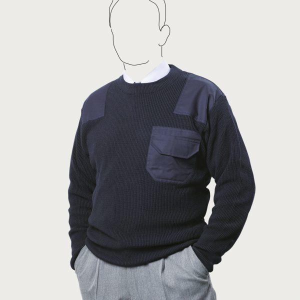 201060 Pullover mit Bundeswehr-Applikationen