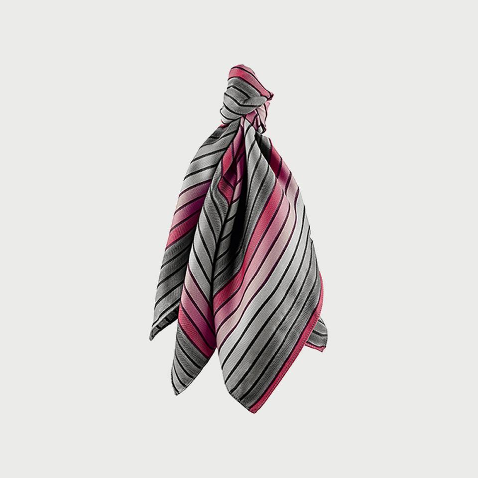 Tuch Gewebt Gestreift Grau/rosé