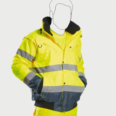 Kontrast-Warnschutz-Jacke