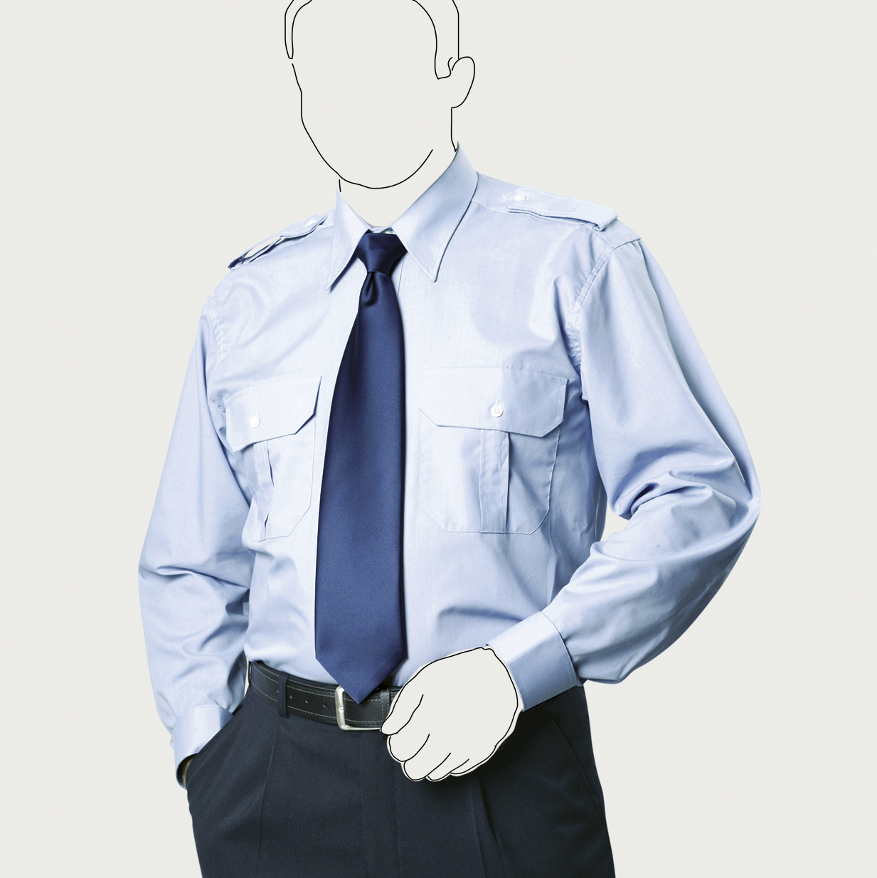 PH-LS-00 - Pilothemd langarm